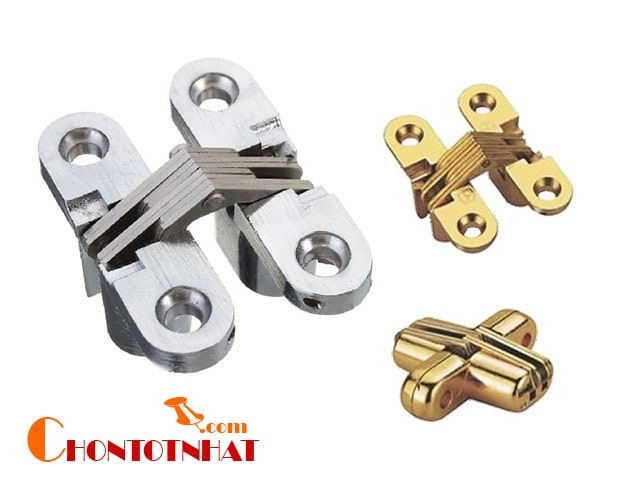 Bản lề chữ thập thường được tạo nên từ hợp kim sắt và mạ lớp chống gỉ sét bằng đồng nên mang đến độ bền cao