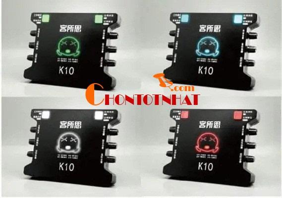 Các chế độ của sound card XOX K10