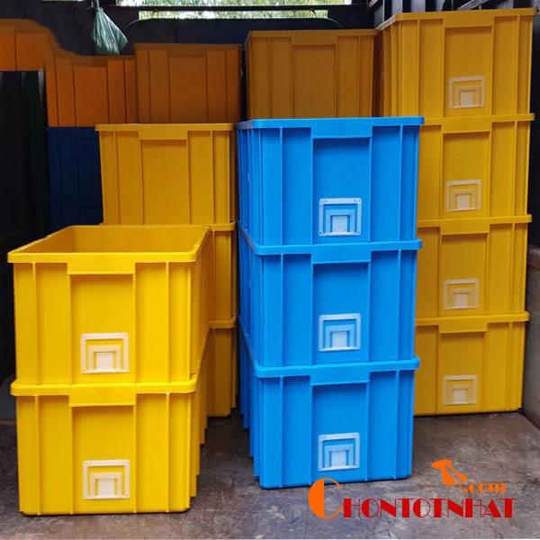 Thùng nhựa được dùng phổ biến
