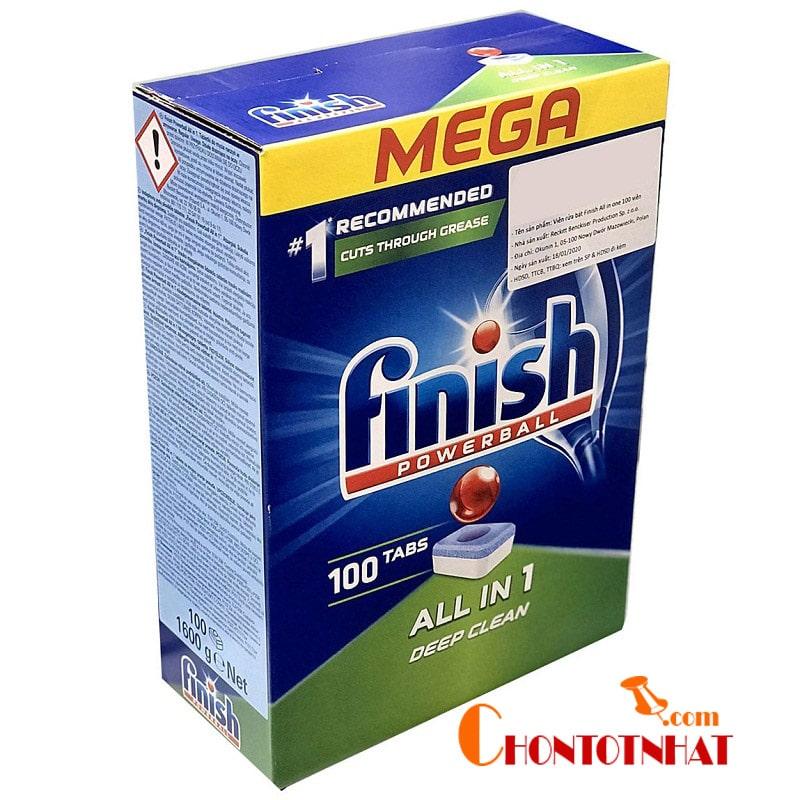 Trên thị trường Việt Nam thương hiệu được nhiều khách hàng lựa chọn và đánh giá cao nhất chính là Finish
