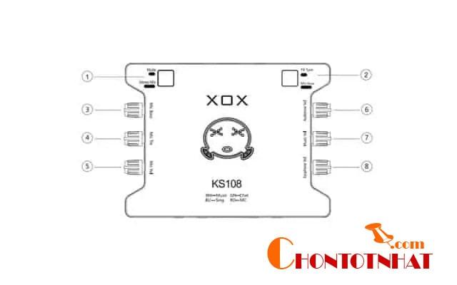 điều chỉnh các nút trên thân sound card