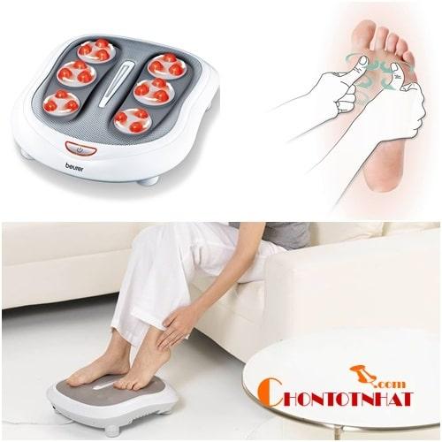 Beurer FM60 được thiết kế với 18 viên bi nên có thể tác động tới các huyệt đạo, mạch máu dưới chân một cách toàn diện