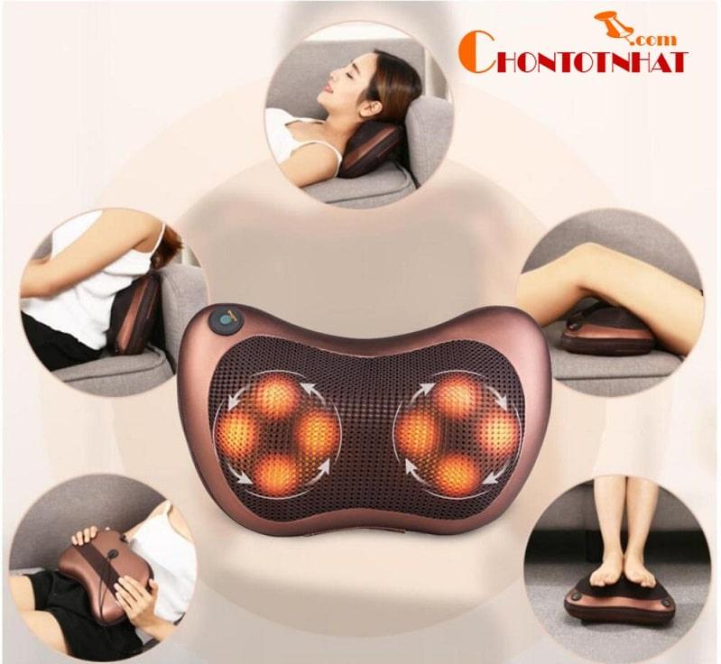 Không chỉ sử dụng cho chân mà máy massage 8 Magic Home còn có thể dùng được cho cả bàn tay, lưng, bụng, cổ, vai,...
