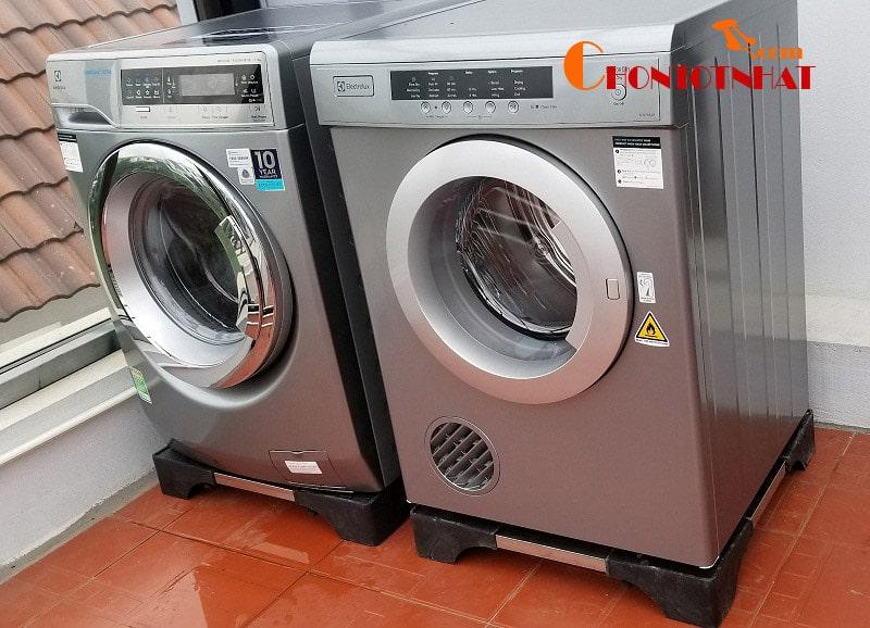 Nên sử dụng chân kê máy giặt khi nào