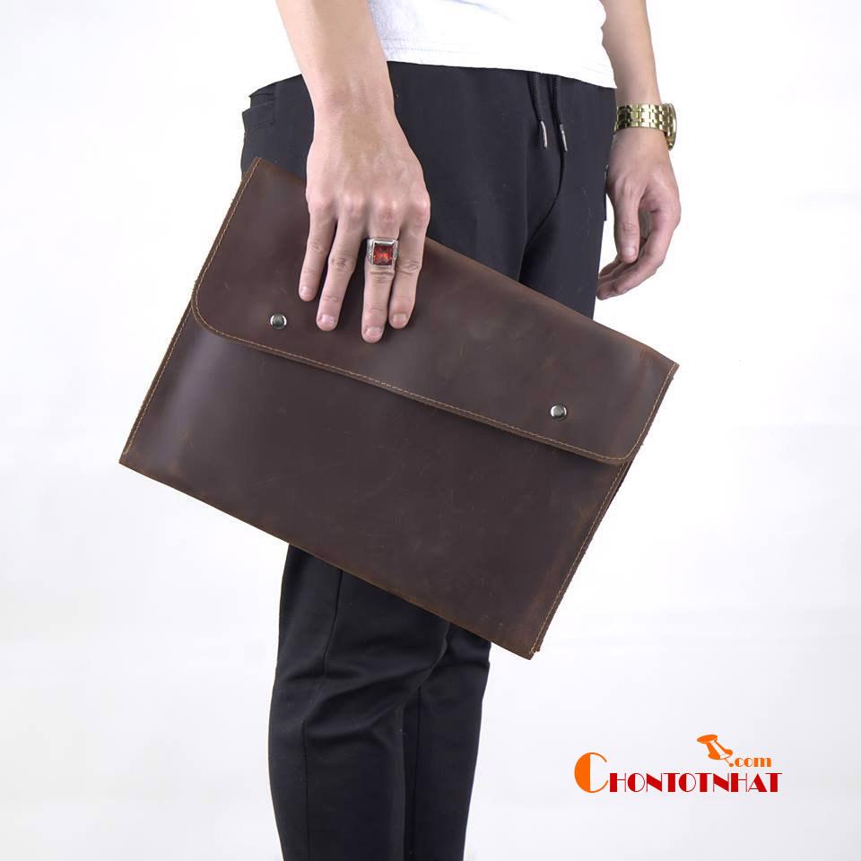 Túi da cầm tay đựng tài liệu