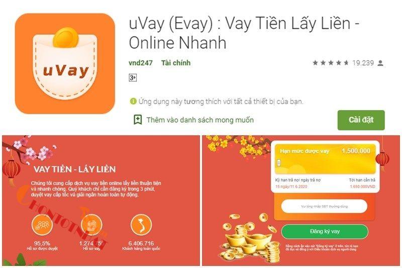 Uvay ứng dụng vay tiền sinh viên nhanh chóng, uy tín