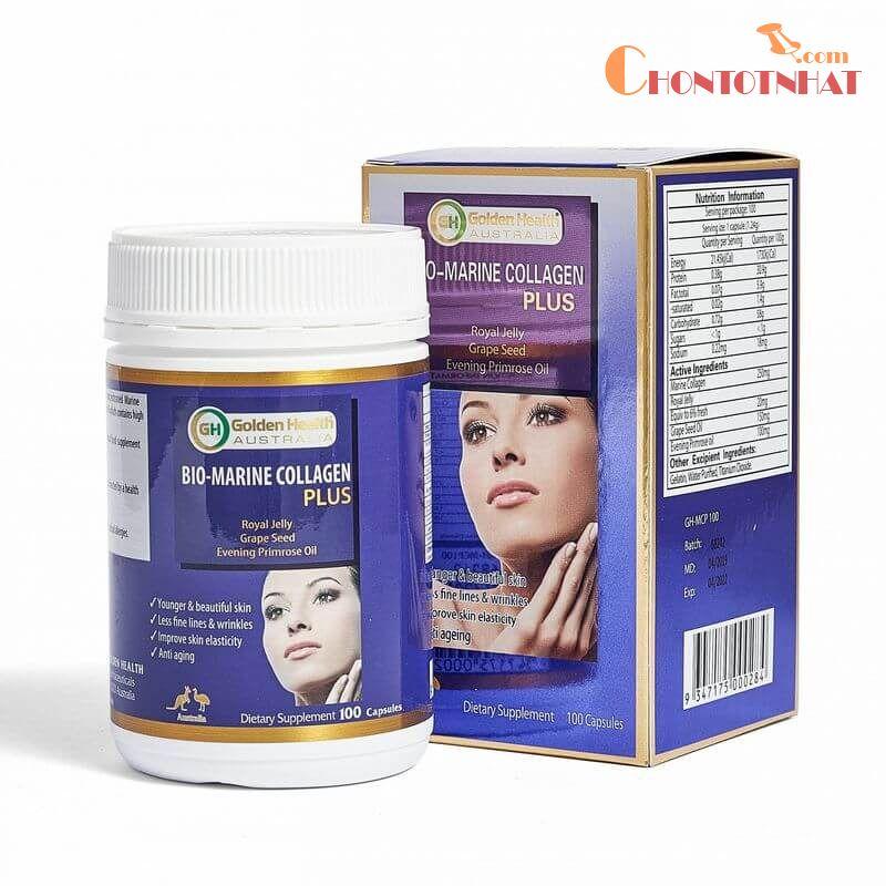 Viên uống Collagen Golden Health Bio-Marine Collagen Plus