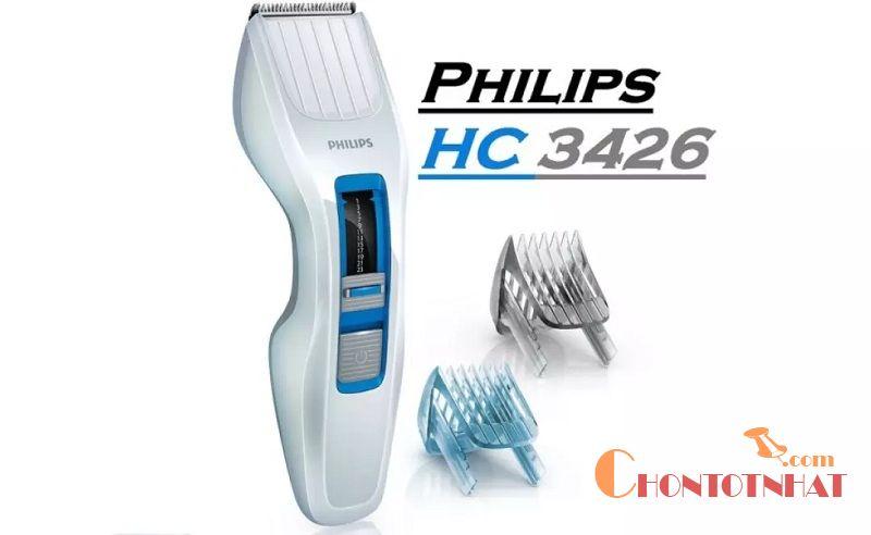 Tông đơ Philips HC3426 cắt tóc cho bé dùng được cho cả người lớn