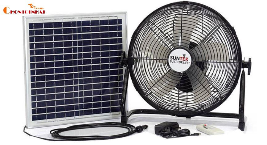 Quạt năng lượng mặt trời và tích điện 2 trong 1 SUNTEK S98