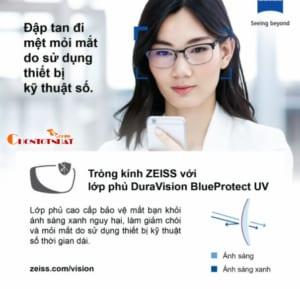 Mắt kính lọc ánh sáng xanh Zeiss DuraVision Blue Protect