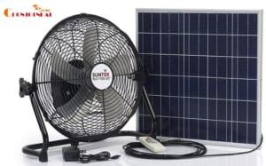 Quạt năng lượng mặt trời và tích điện 2 trong 1 SUNTEK SF-01
