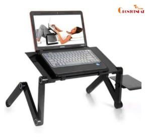Bàn laptop đa năng xoay 360 độ có quạt tản nhiệt
