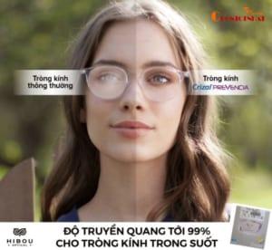 Mắt kính chống ánh sáng xanh Essilor Crizal Prevencia