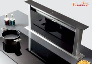 Máy hút mùi âm bàn có thể dễ dàng kéo lên xuống tùy chỉnh