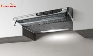 Máy hút mùi âm tủ được gắn vào bên trongtủ bếp