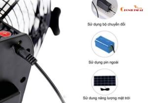Quạt điện mặt trời có 3 hình thức sạc linh động phù hợp cho nhiều hoàn cảnh khác nhau