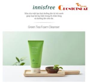 Sữa rửa mặt làm sạch innisfree Green Tea Foam Cleanser 150ml giá 220k