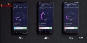 Tốc độ download của điện thoại 5G cực khủng,cao hơn rất nhiều lần so với 4G và 3G