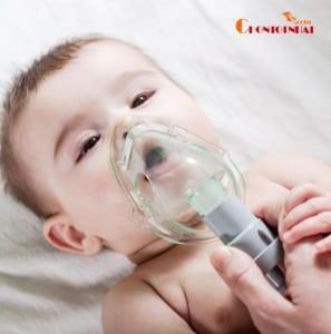 Khi sử dụng khí dung cho trẻ nhỏ đặc biệt là trẻ sơ sinh cần chú ý theo hướng dẫn của bác sĩ